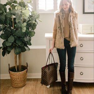 ARMANI EXCHANGE•luxury faux fur vest
